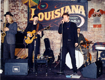 Ron Sunshine & Full Swing at Louisiana Community Bar & Grill in NYC (1997); Credit: Lydia Mann