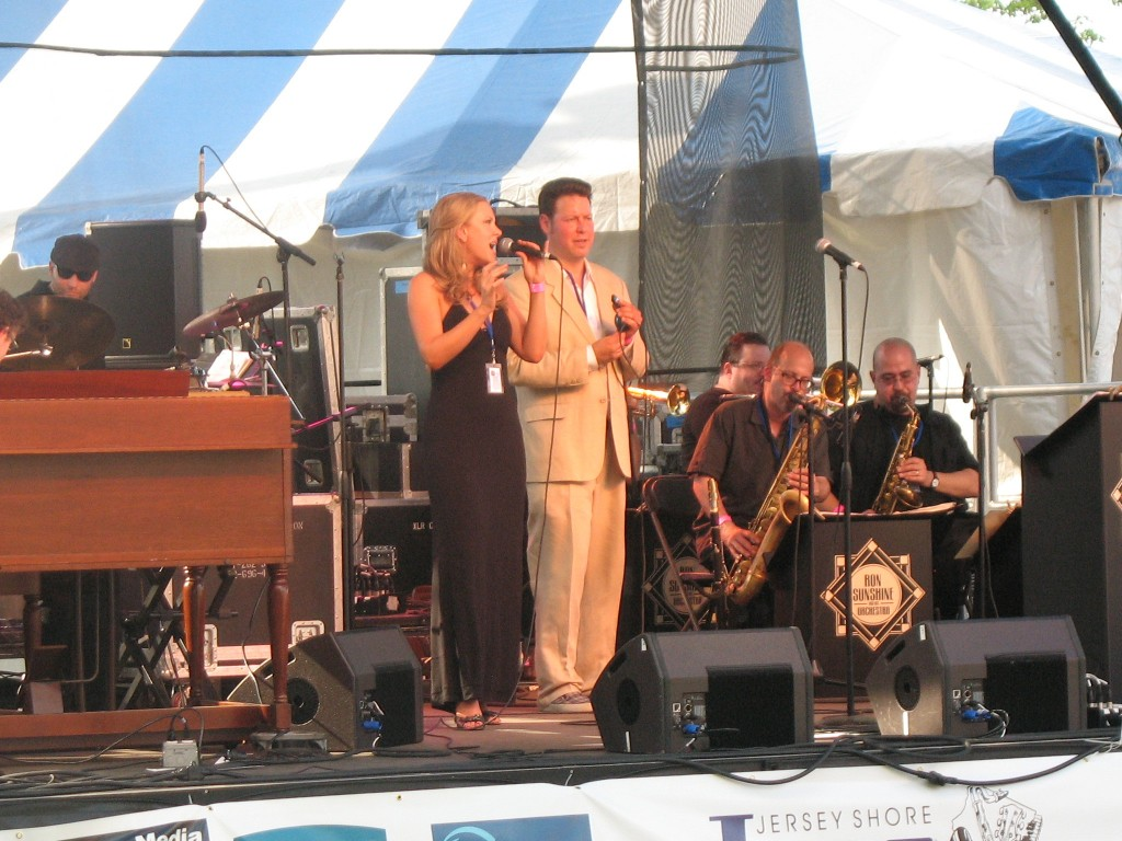 Ron and Sarah Tolar at the Red Bank Jazz and Blues Festival.