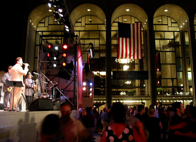 Ron at Midsummer Night Swing, Lincoln Center, NYC (July 9, 2003); Credit: Feather Frazier