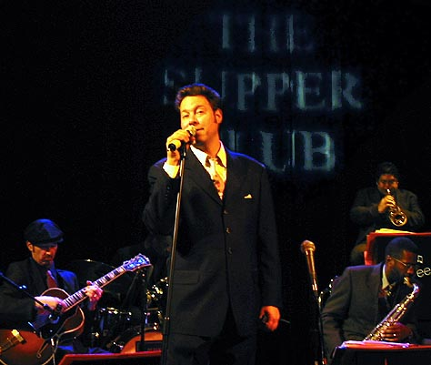 Back at The Supper Club with the George Gee Orchestra (May 14, 2002); Credit: Feather Frazier