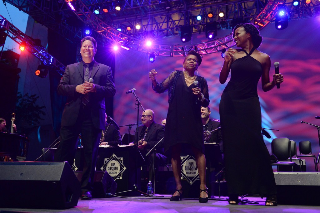 www.acepixs.com July 6, 2017  New York City Ron Sunshine and His Orchestra perform at  Midsummer Night Swing at Lincoln Center on July 6, 2017 in New York City. Credit: Kristin Callahan/ACE Pictures Tel: 646 769 0430 Email: info@acepixs.com